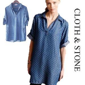 CLOTH & STONE (Anthro)   Chambray tunic